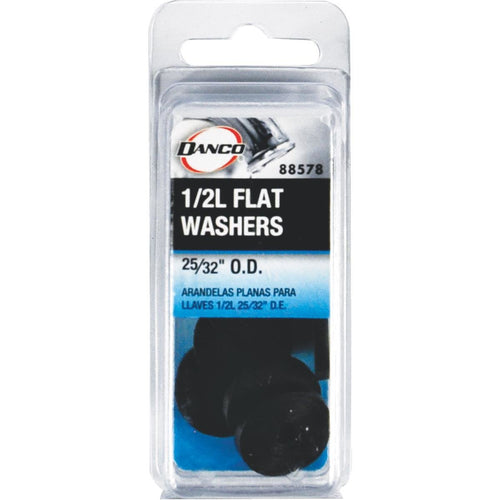 Danco 88578 Rubber Flat Washer, 25/32-Inch, 10-Pack, 1/2L - Jenco Wholesale