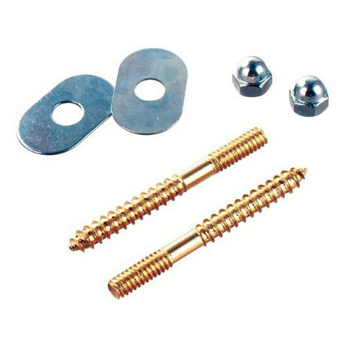 "Do it Toilet Screw Set, 1/4"" x 2-1/2"", Brass, #414689 - Jenco Wholesale"
