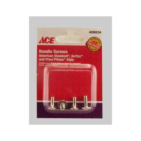 Ace Handle Screws for American Standard, Gerber and Price Pfister ( 4 Pack), 4200234 - Jenco Wholesale