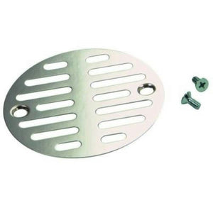 "Danco Chrome 3 3/8"" Universal Shower Drain Strainer  88921 - Jenco Wholesale"