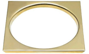 "Lee Meyers B-6TS-Polished Brass 41/4"" Polished Brass Tile Square - Jenco Wholesale"