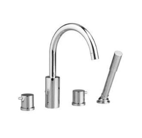 Jado Borma Polished Chrome Roman Tub Faucet w/ Hand Shower 814084.100 - Jenco Wholesale