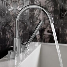 Load image into Gallery viewer, Jado Borma Polished Chrome Roman Tub Faucet w/ Hand Shower 814084.100 - Jenco Wholesale