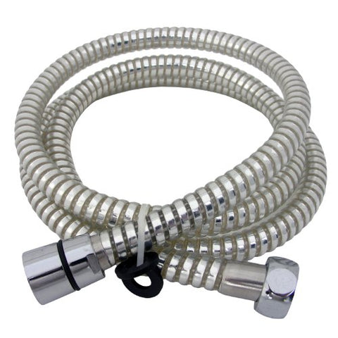 Lasco 84259CW 59-Inch Shower Hose, Chrome And White Finish