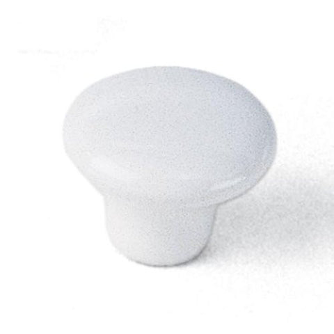"Laurey #02942 1-1/4"" Diameter White Ceramic Knob"