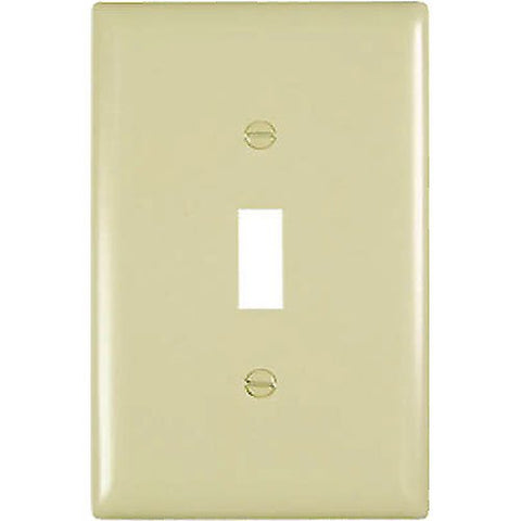 Trade Master Single Gang Wallplate, Unbreakable (Ivory), TPJ1-I - Jenco Wholesale
