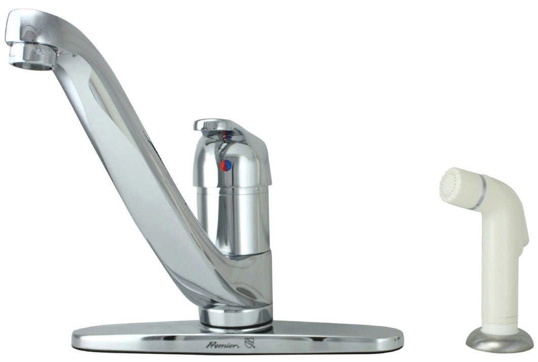 Premier Westport 1-Handle Chrome Kitchen Faucet With Side Spray 120603 - Jenco Wholesale