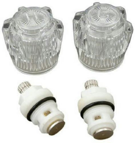 BrassCraft Clear Acrylic Lavatory Rebuild Kit for Streamway, 1 pair, #SK0357 - Jenco Wholesale