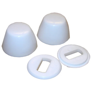 Do it Round Toilet Bolt Caps, White, 443980 - Jenco Wholesale