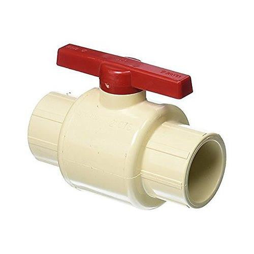 King Brothers CBV-1250-S 1-1/4-Inch Solvent PXL CPVC Ball Valve, Tan - Jenco Wholesale