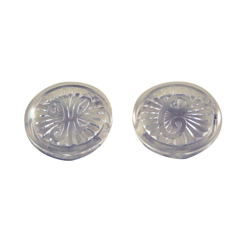 Ace Clear Acrylic Pair Handle Buttons for Moen Style Faucets, 48909