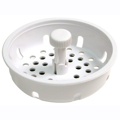 Danco Basket Strainer w/ Stopper, White, #86792 - Jenco Wholesale