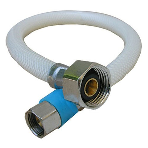 "Lasco Pro-Flex Stainless Braided Water Connector 20"" Length, 3/8"" Comp., 1/2"" IPS (Faucet), 10-2121 - Jenco Wholesale"
