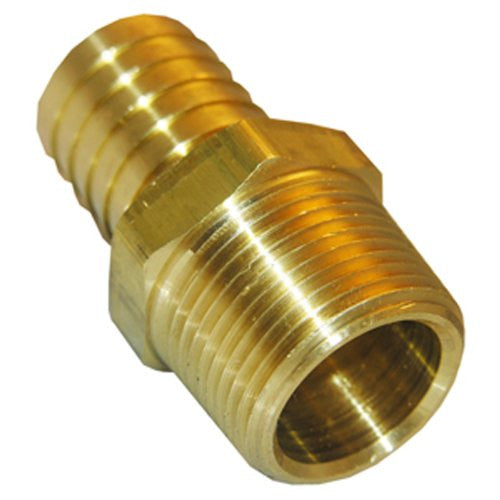 Lasco 1/4-Inch MIP by 3/8-Inch Barb Adapter Air Fitting, Brass, 17-7717 - Jenco Wholesale