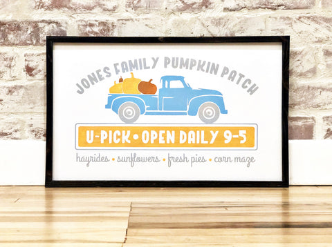Semi Custom Pumpkin Patch