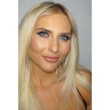 EK LASHES AZUL BLUE COLOURED CONTACT LENSES AND GODDESS 3D MINK LASHES