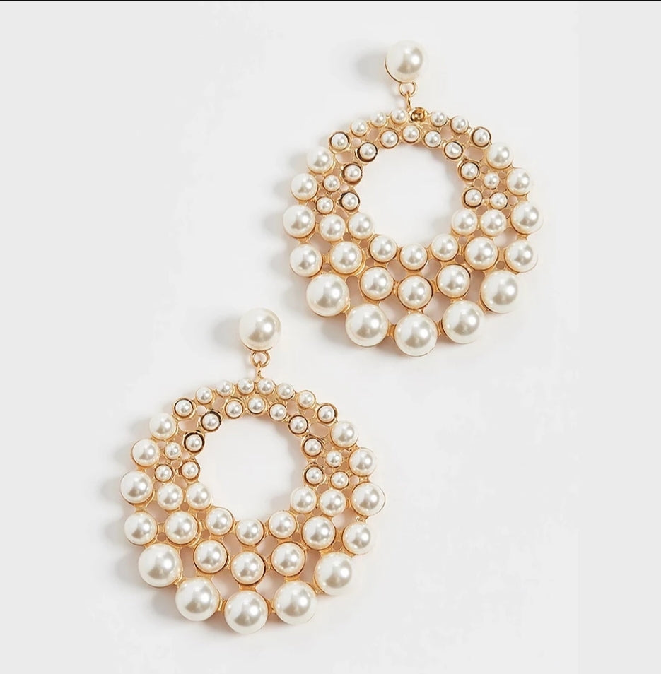 RIH PEARL EARRINGS - EK LASHES