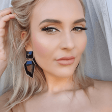CHRISSY EARRINGS- BLACK - EK LASHES