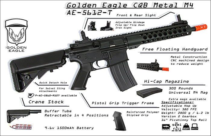 JG CQB Metal M4 Rifle