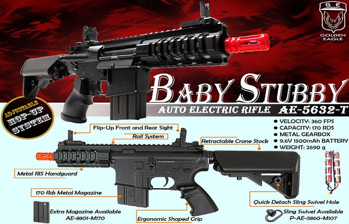 Baby Stubby AEG Airsoft Rifle