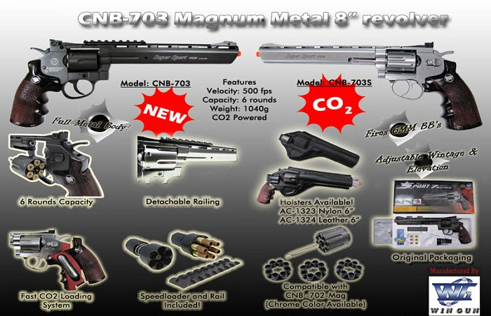 Full Metal 703 Airsoft Revolver
