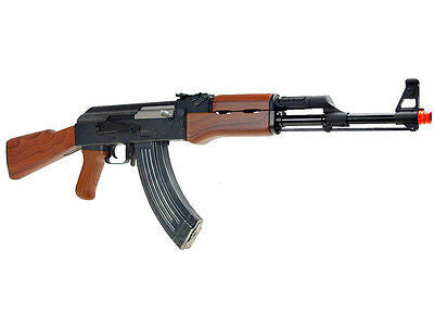 SRC Sport Series AK47 Metal Gear Semi Fully Automatic AEG Airsoft Rifle for $1.69 at Airsoft Solutions