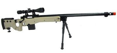 WELL L96 Heavy Single Bolt Action Spring Air Soft Sniper Rifle Bipod Scope for $1.99 at Airsoft Solutions