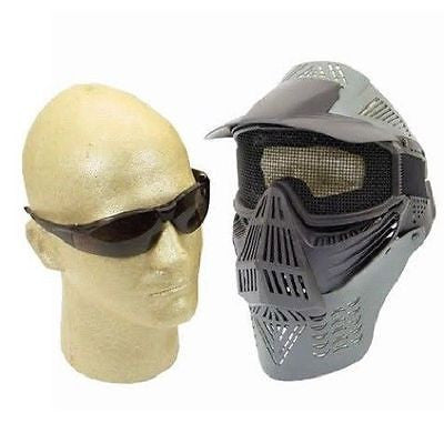 Air Soft Mesh Wire Full Face Mask and P-Force Safety Glasses for $0.39 at Airsoft Solutions