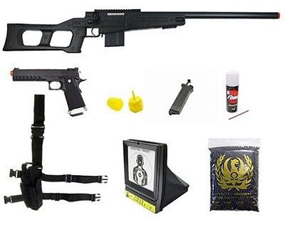 WellFire MK96 Covert Bolt Action Sniper Airsoft Rifle KJW Metal KP06 Gun Package for $3.49 at Airsoft Solutions