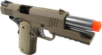 WE 4.3 S-Type Full Metal Green Gas Powered Blowback Kickback Airsoft Pistol for $1.39 at Airsoft Solutions