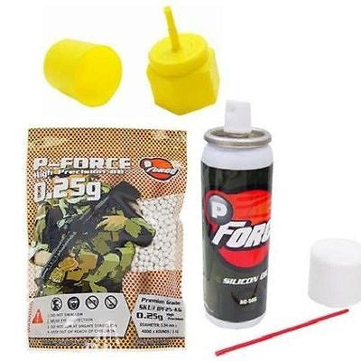 Airsoft Gas Gun Starter Kit Propane Adaptor Silicone Oil 4000 Premium BBs for $0.29 at Airsoft Solutions