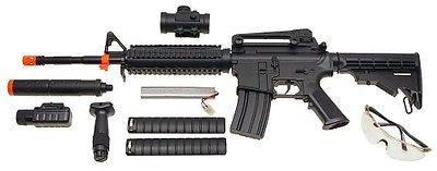 Double Eagle M4 M83A2 Electric Airsoft Assault Rifles - Lot of 2 for $1.34 at Airsoft Solutions