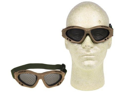 Airsoft Adjustable Mesh Wire Goggles Tan for $0.24 at Airsoft Solutions