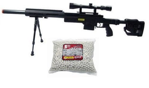 Well PSG-1 Bolt Action Airsoft Sniper Rifle Bi-Bod Scope 2500 .20g BBs for $1.89 at Airsoft Solutions