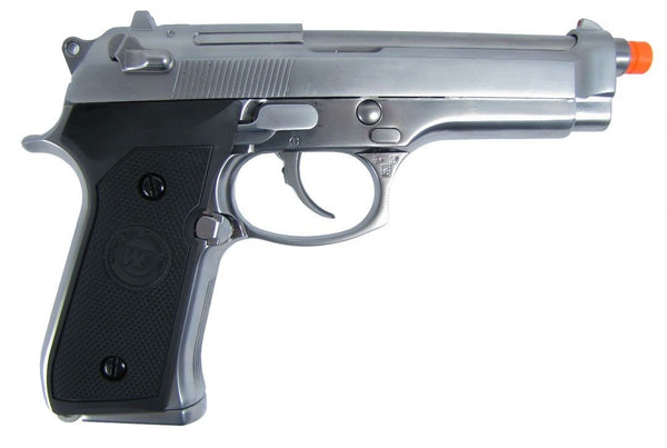 WE M-92 418S Blowback Green Full Metal Gas Airsoft Pistol for $1.39 at Airsoft Solutions