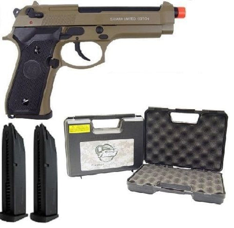SRC Sahara M9 Gas Blowback Full Metal Airsoft Pistol Gun Case Extra Magazine for $1.29 at Airsoft Solutions