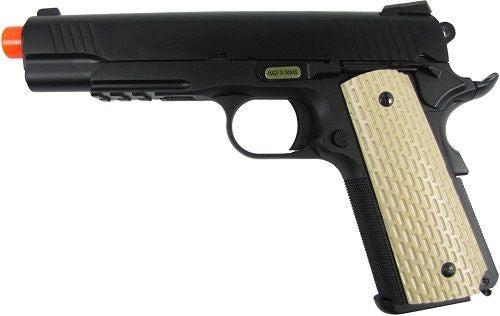 WE M1911 Black Tan Full Metal Gas Blowback Air Soft Pistol for $1.34 at Airsoft Solutions