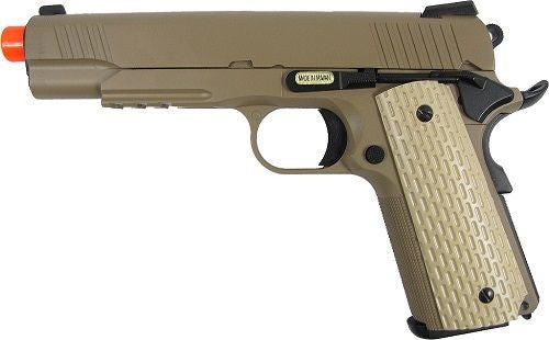 WE 1911 Dessert Full Metal Blowback Gas Airsoft Pistol with Extra Magazine for $1.59 at Airsoft Solutions