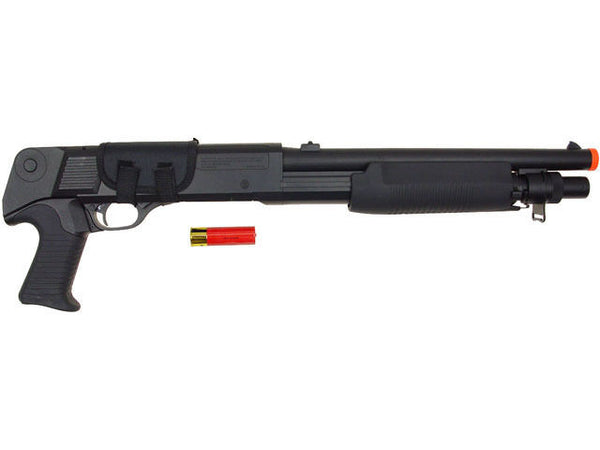 Double Eagle 799S Tri-Burst Airsoft Pump Action Shot Gun Full Stock Pistol Grip for $0.89 at Airsoft Solutions