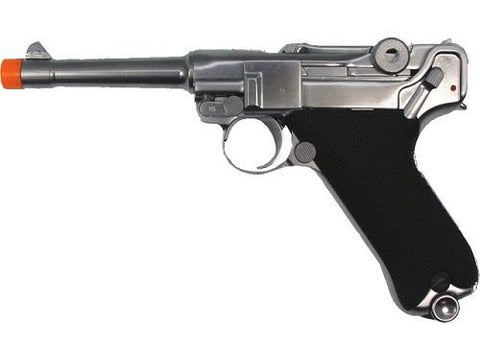"WE Full Metal Airsoft Luger P08 Pistol WWII 4"" SHORT Model Airsoft Gun for $1.45 at Airsoft Solutions"