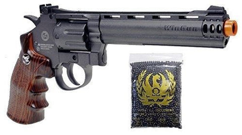 WG Sport Long Barrel CO2 Airsoft Revolver with 4300 P-Force .23g 6mm Airsoft BBs for $1.09 at Airsoft Solutions