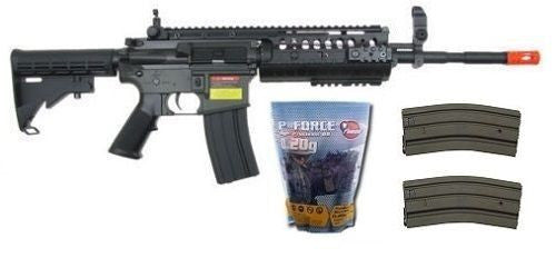 Golden Eagle M4 Carbine AEG Semi Full Auto Airsoft Gun 5K BBs 2 Extra Magazines for $2.29 at Airsoft Solutions