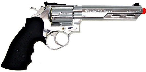 "HFC 133S Savaging Bull A3 6"" Silver Airsoft Revolver for $0.89 at Airsoft Solutions"