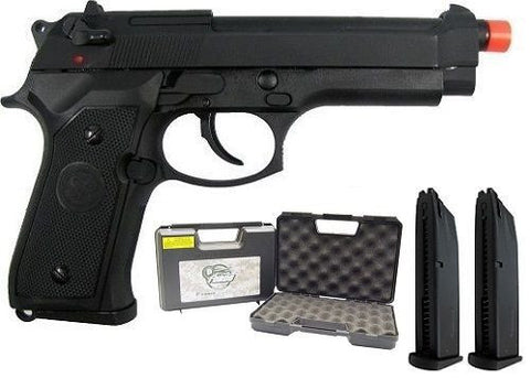 SRC M9 SR92 Full Metal Gas Blowback Airsoft Pistol with Case Extra Magazine for $1.29 at Airsoft Solutions
