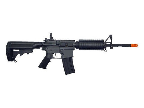 Golden Eagle JG M4CQB Metal Gear Fully Automatic Electric Airsoft Rifle - Airsoft Solutions