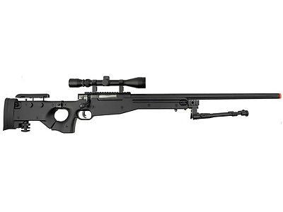 Well L96 Spring Single Bolt Action Airsoft Sniper Rifle with Bi-pod Scope - Airsoft Solutions