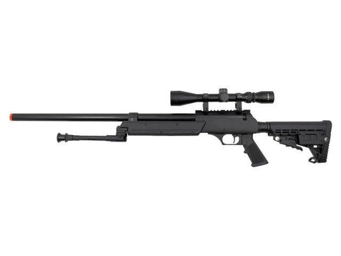 WELL ASR SR-2 Moduler Single Bolt Action Spring Rifle with Scope & Bipod for $1.49 at Airsoft Solutions