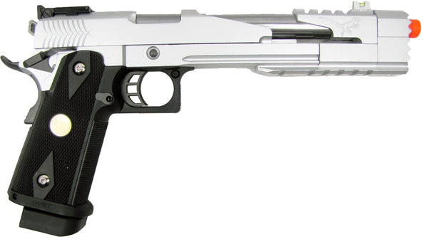 WE Hi-Capa 7 Dragon Full Metal Semi Auto Gas Blowback Pistol - Silver for $1.49 at Airsoft Solutions