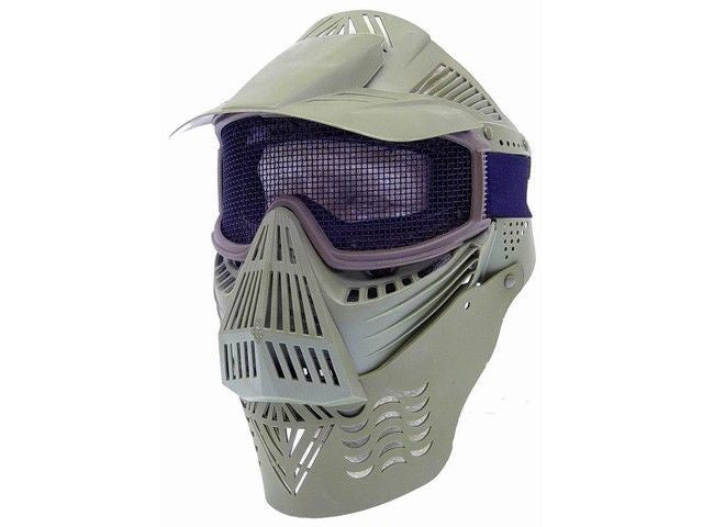 P-Force Recticular Full Face Mesh Wire Green Airsoft Mask