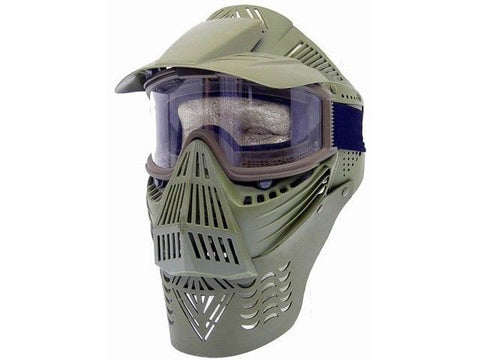 P-Force Recticular Full Face Lens Green Airsoft Mask